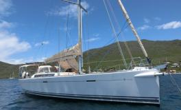 Dufour 485 Grand Large: At anchor in Martinique